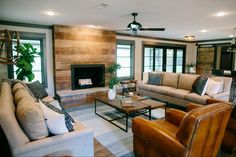 Natural shiplap on the fireplace - pretty | Fixer Upper, Chip and Joanna Gaines, Magnolia Market