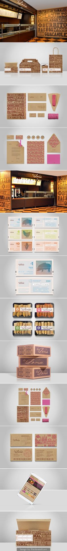 La Loma Tamales by Uno. I love Mexican food identity, packaging, branding curated by Packaging Diva PD created via http://unobranding.com/uno/portfolio-items/la-loma-tamales/