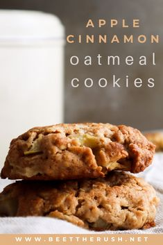 Are you looking for some cookies to make at home? Homemade cookies are the best, and these apple cinnamon oatmeal cookies look healthy enough to be eaten without guilt! #cookies #homemade #applecinnamon #oatmeal Dessert Ideas, Fun Desserts, Delicious Desserts, Dessert Recipes, Apple Cinnamon Oatmeal, Cinnamon Apples, Cookies From Scratch, Homemade Cookies, Oatmeal Cookies
