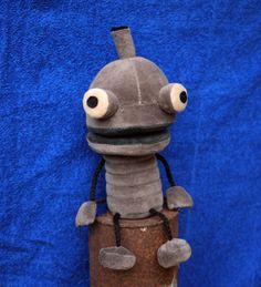 An adorable stuffed robot!