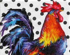 Rooster Print Rooster Art Kitchen Decor Giclee by PaletteKnifeArt
