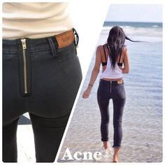 Acne Zip Back Jeans