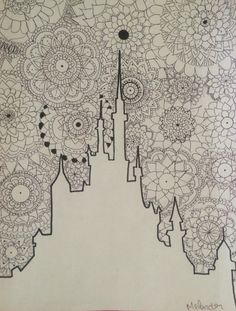 Zentangle/ mandala disney castle Comment, tell me what you think