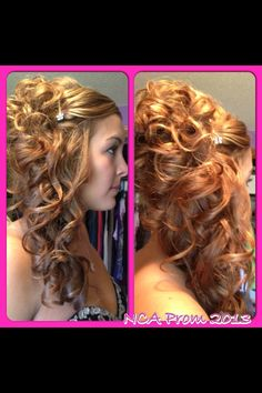 #HairByAmberGranquist #AttitudesHairCompany  www.facebook.com/HairByAmberG  Prom hair side curls pretty
