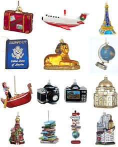 seaonal style} Travel Map Christmas Ornaments + More Than 35 Other ...