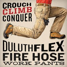 Workwear that bends the rules! DuluthFlex Fire Hose Work Pants stretches and…
