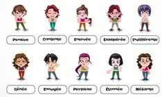 Les émotions -- adjective handouts for both masculine & feminine emotions! AMAZING blog with tons of resources for French teachers.