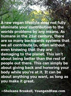 Food for thought from http://www.youngandraw.com :-) #raw #vegan #lifestyle