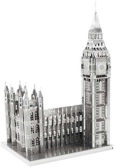 "It's enormously satisfying to hold a monumental building in your hand, and even more satisfying to build it yourself out of material that will last for years to come! Give yourself or your favorite handyperson the pleasure of assembling the Elizabeth Tower (formerly nicknamed Big Ben) and the Houses of Parliament in miniature scale. The kit comes with two die-cut, 4"" x 8"" steel sheets, plus a detailed, easy-to-follow, illustrated instruction guide to guarantee success. Simply snip out the…"