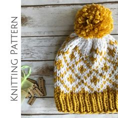 Fair Isle Beanie Chunky Knit Pattern Knit Hat Tutorial