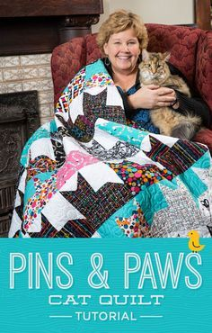 New Friday Tutorial: The Pins and Paws Quilt + Giveaway!   The Cutting Table Quilt Blog   Bloglovin'