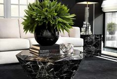 Incorporate modern marble furniture to your home interior design. At OROA we have many marble furniture pieces available of European furniture brand, Eichholtz. Black Marble Coffee Table, Black Coffee Tables, Black Furniture, Luxury Furniture, Furniture Online, Furniture Ideas, Furniture Design, Autumn Interior, Marble Interior