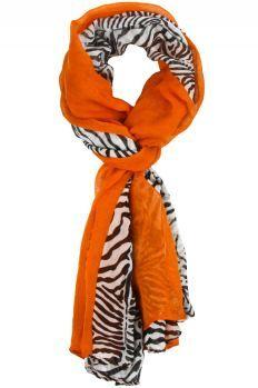 Liza Colorblock Zebra Scarf