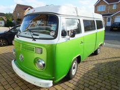 We used to have a green volkswagon bus...It was much older looking though.