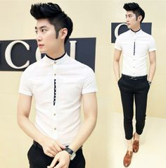 Exclusive! Small Size Men Women Party Club Dress Shirt 2014 Summer Cool Linen Thin Shirt Slim Fit Modern Man Charming Casual Shirt Hot Selling Cheap Wholesale $26.99