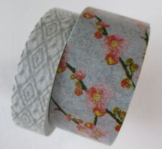 Washi Tape  Double Roll  Gray Geometric and Floral by HazalsBazaar, $6.00