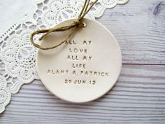 Personalized Wedding ring bearer All my love All my by orlydesign, $54.00