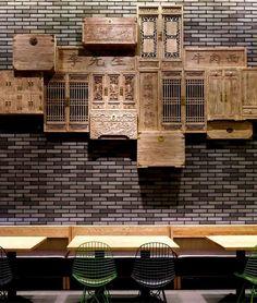 Minimalistic Asian Restaurant with Fresh Green Elements vintage decor elements noodle house