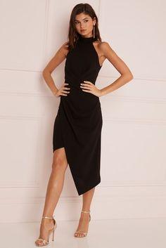 d8e031aef77 Buy Lipsy Halterneck Assymetric Hem Bodycon Dress from the Next UK online  shop