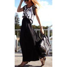 Chiffon maxi skirts.