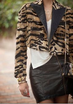 Cropped statement jackets.