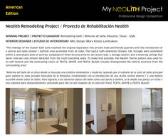 Congratulations to Mary Kostas Lambrakos (MKL Design) and Kyle Humphries (Murphy Mears Architects) from Houston, Texas (USA)!! Its remodeling bath is the winner project of the Professional Competition - American Edition!