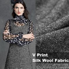 Spring new silk wool cloth dress suits silk fabric clothing wool fabrics  wholesale high quality wool cloth suits silk cloth b20dff313a5b