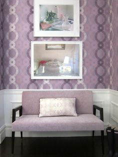 Soft Lavender  This polished shade of purple is an elegant, feminine and inviting color that helps to stimulate conversation and creativity. The invigorating hue is ideal for living rooms, dining rooms and sitting areas where friends and family often interact. Take lavender to a daring new level by adding it to the wall with an eye-catching wallpaper pattern.
