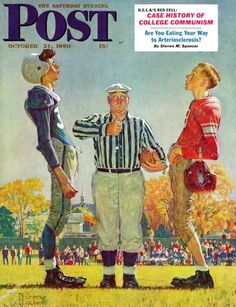 Coin Toss by Norman Rockwell, from October 21, 1950