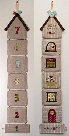 """""""New Home"""" Coaster Set by PatchworkPottery, via Flickr"""