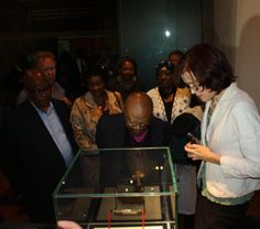 Archbishop Emeritus Desmond Tutu explores the displays at the Maropeng interactive exhibition on July 31 Interactive Exhibition, Desmond Tutu, July 31, World Heritage Sites, Explore, Exploring