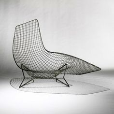 Prototype made by Harry Bertoia as part of his wire furniture developed for Knoll.  ca. 1952.
