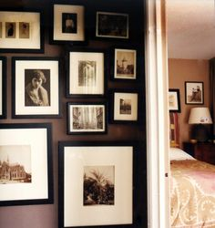 51 New Ideas For Family History Wall Spaces Chocolate Brown Walls, Turner House, Memory Wall, Photo Wall Collage, Picture Wall, Wall Spaces, Wall Decor, Interior Design, Interior Ideas