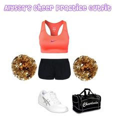Alyssa Moors's Cheer Practice Outfit by elizabethcooke on Polyvore featuring polyvore fashion style NIKE STELLA McCARTNEY Asics