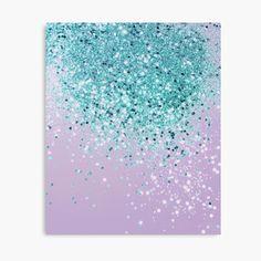 Glitter Wall Art, Glitter Canvas, Teal Rooms, Sponge Painting, Purple Teal, Purple Glitter, Canvas Prints, Art Prints, Canvas Artwork