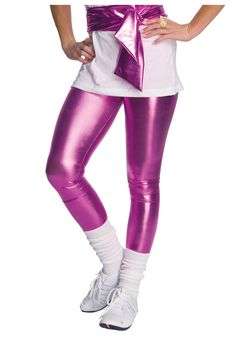 Cute 80's inspired legging outfit. Umm actually, I would wear this. Only i'd switch to different white sneakers.