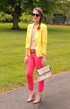 Penny Pincher Fashion: Collective Concepts blouse (similar), Zara blazer (here), c/o Ann Taylor pants (on sale here), H belt (similar), Mossimo pumps (on sale here), Jason Wu for Target satchel, Bracelets: c/o LOFT, J. Crew & Sonoma (similar), Target sunnies