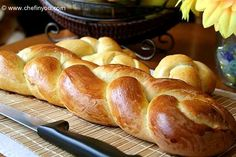 Zopf Swiss bread. I have yet to find a recipe that tastes like it does in Switzerland, but maybe this is it!