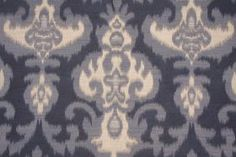Ikat Pattern Fabric :: 1.5 Yards Duro Wanda Tapestry Upholstery Fabric in Blue - Fabric Guru.com: Fabric, Discount Fabric, Upholstery Fabric...