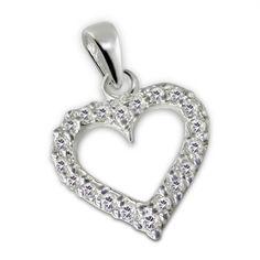 Heart - 925 Sterling Silver Cubic Zirconia Pendants