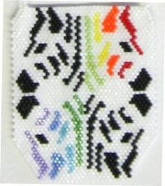 Technicolor Zebra Reflections Pendant Pattern at Sova-Enterprises.com