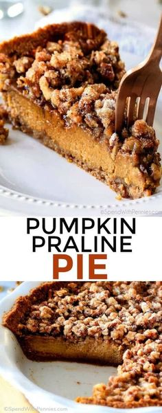 Introducing Praline Pumpkin Pie AKA a new Thanksgiving must! Creamy pumpkin pie topped with crunchy, chewy brown sugar pecans for the perfect flavor and texture combination in every bite! Be the hero of Thanksgiving with this new twist on the comforting classics!