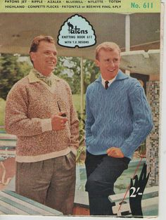 ON SALE  Knits for Men Vintage Knitting  Book by jennylouvintage