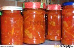 Čalamáda Preserves, Pesto, Salsa, Garlic, Smoothie, Cooking Recipes, Jar, Homemade, Canning