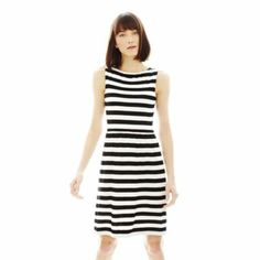 Joe Fresh™ Sleeveless Pleated Striped Dress   found at @JCPenney