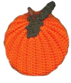 Puffy Pumpkin DIY Craft Project ~ Free instructions ~ Pattern design by: Myra Shaw from Myra's Crafty Corner