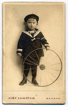 Little boy in sailor suit, 1900's
