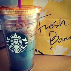 #starbucks #freshbanana #frappuccino #morningbliss #addicted2coffee feeling #fridaylicious #Padgram