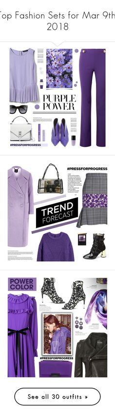 """""""Top Fashion Sets for Mar 9th, 2018"""" by polyvore ❤ liked on Polyvore featuring Emilio Pucci, Proenza Schouler, Rebecca Minkoff, Banana Republic, Gucci, Lancôme, NYX, Kate Somerville, Kenneth Jay Lane and Hermès"""