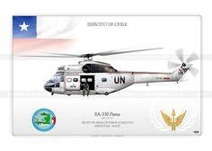 """SA-330 """"PUMA"""" UN-135 Chile JP-1084"""